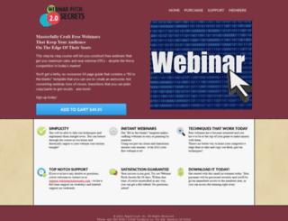 webinarpitchsecrets.com screenshot