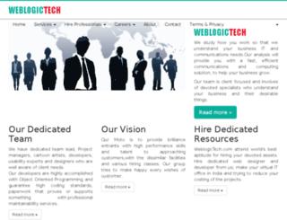 weblogictech.com screenshot