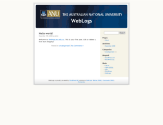 weblogs.anu.edu.au screenshot