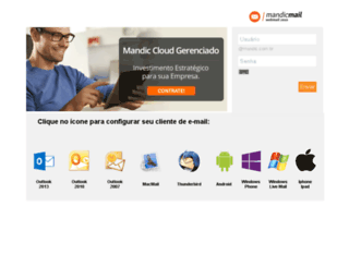 webmail-beta.mandic.com.br screenshot