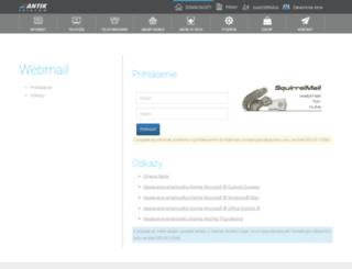webmail.antik.sk screenshot