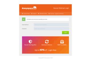 webmail.easyspace.com screenshot