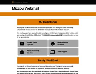 webmail.missouri.edu screenshot