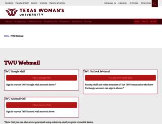 webmail.twu.edu screenshot