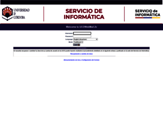 webmail.uco.es screenshot