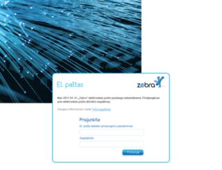 webmail.zebra.lt screenshot