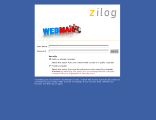 webmail.zilog.com screenshot