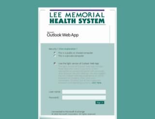 webmail3.leememorial.org screenshot