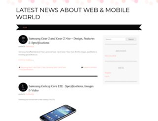 webnmobileworld.wordpress.com screenshot