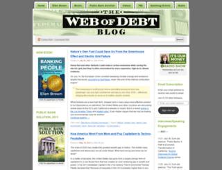 webofdebt.wordpress.com screenshot