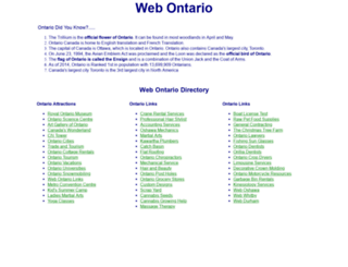 webontario.com screenshot