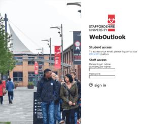weboutlook.staffs.ac.uk screenshot