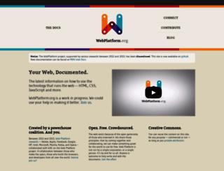 webplatform.org screenshot