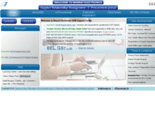 webportal.bel.co.in screenshot