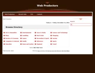 webprodoctors.com screenshot