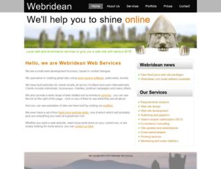 webridean.com screenshot