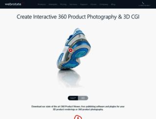 webrotate360.com screenshot