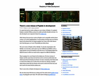 webrpi.wordpress.com screenshot