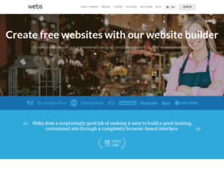 webs.com screenshot