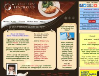 websellerslunchclub.com screenshot