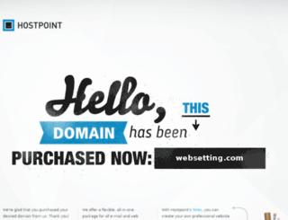 websetting.com screenshot