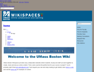 website.wikispaces.umb.edu screenshot
