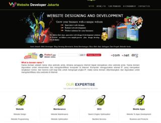 websitedeveloperjakarta.com screenshot