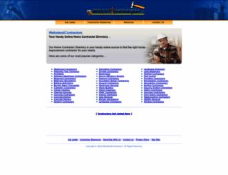 websites4contractors.com screenshot