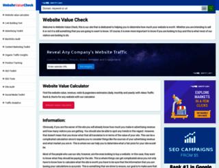 websitevaluecheck.net screenshot
