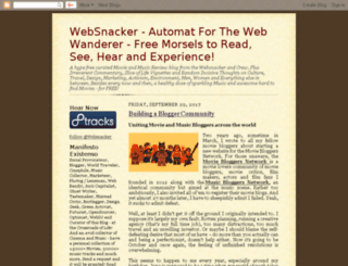 websnackerblog.com screenshot