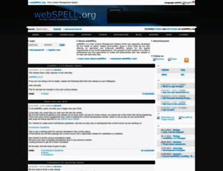webspell.org screenshot