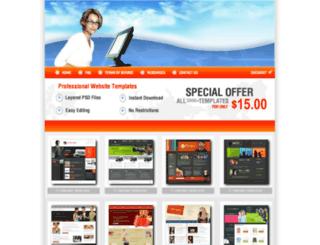 webtemplatediscount.com screenshot