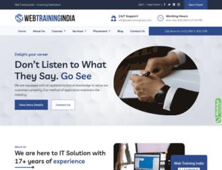 webtrainingindia.com screenshot