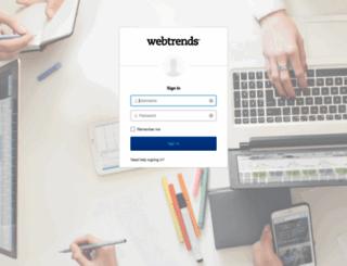 webtrends.okta.com screenshot