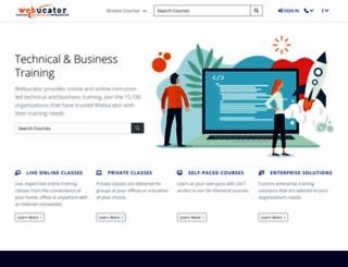 webucator.com screenshot
