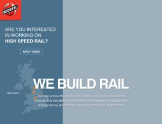webuildrail.com screenshot
