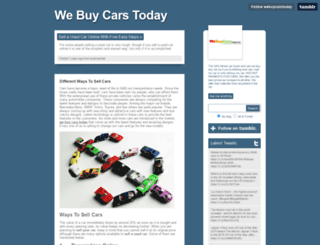 webuycarstoday.tumblr.com screenshot