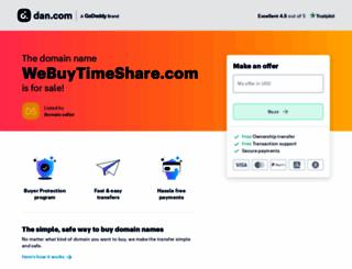 webuytimeshare.com screenshot