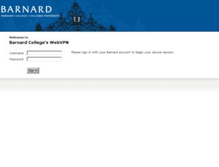 webvpn.barnard.edu screenshot