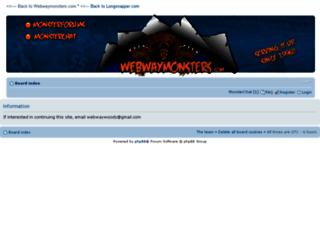 webwaymonsters.com screenshot