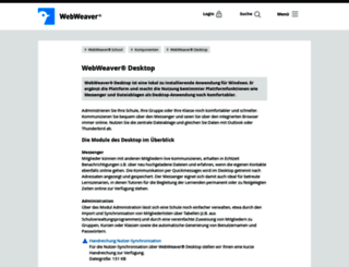 webweaver-desktop.de screenshot