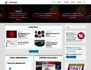 webwewant.org screenshot