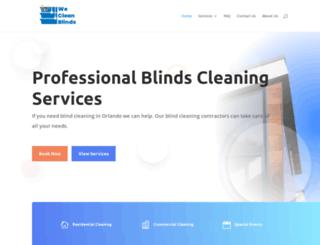wecleanblinds.com screenshot