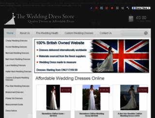 wedding-dress-store.co.uk screenshot
