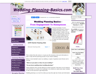 wedding-planning-basics.com screenshot