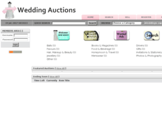 weddingauctions.co.nz screenshot