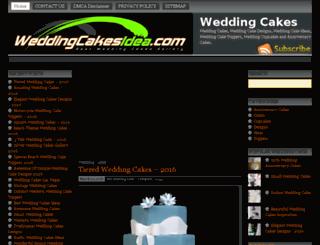 weddingcakesidea.com screenshot