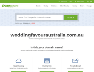weddingfavouraustralia.com.au screenshot