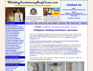 weddinginvitationsandfavors.com screenshot