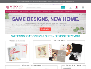 weddingpaperie.com screenshot